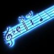 3D music fragment lighting in the dark