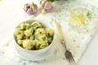 Cauliflower with lemon-garlic sauce
