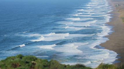 Shallow Aqua Ocean Waves Sand Beach Slow Motion