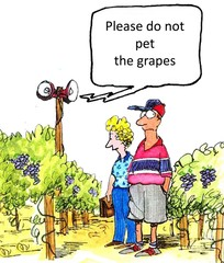 Do not pet the grapes