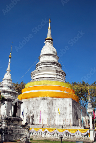 Pagoda in Thai Buddhism temple, Chiangmai