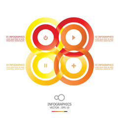 Modern Infinity Circle Infographic Design Template