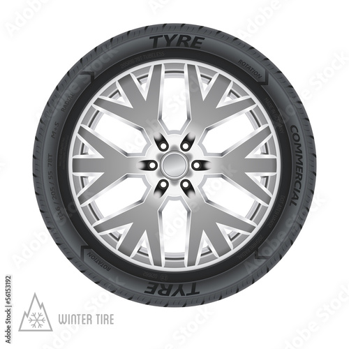 Winter tire abstract illustration