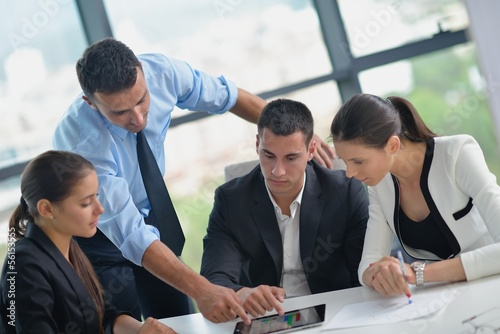 canvas print picture business people in a meeting at office
