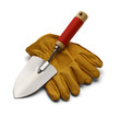 Work Gloves and Shovel