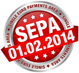 """Button Banner """"SEPA"""" red/silver"""