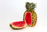 Pineapple containing a watermelon