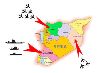 Syria conflict illustration