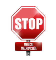stop medical malpractice road sign