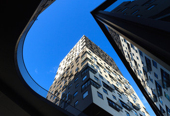 Looking up in the city center