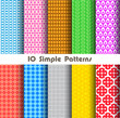 simple patterns collection for making seamless background