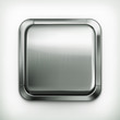 Metal button, detailed vector icon