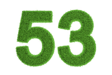 Environmentally friendly symbol of number 53