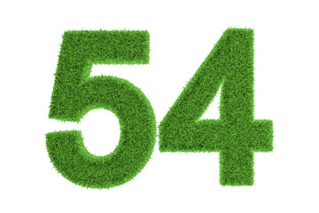 Environmentally friendly symbol of number 54
