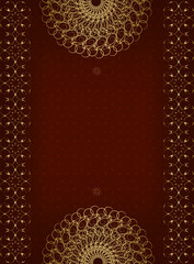 Luxury greeting card with gold ornament