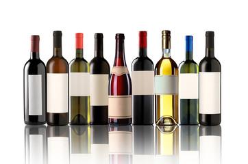 Group of nine bottles