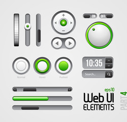 Web UI Elements Design Gray Green: Part 4