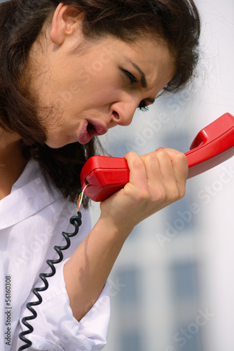 woman emotionally on the phone