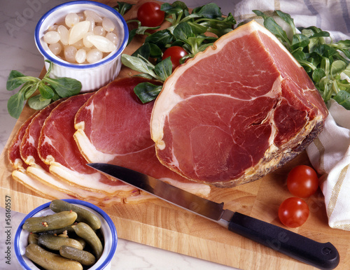 quart de jambon rouge