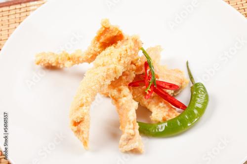 salmon in tempura