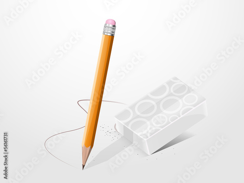 pencil with an eraser