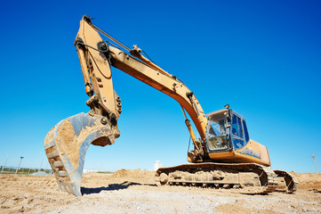 excavator loader at work