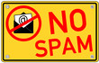 No Spam Inetrnet email  #130913-svg06