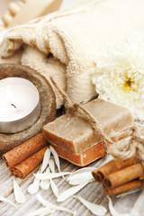 Spa setting witn natural soap