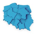 Fototapety mapa Polski