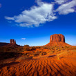 Monument Valley West Mitten and Merrick Butte desert sand dunes
