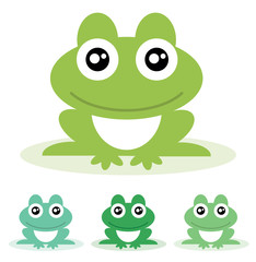 Frog. Vector illustration.