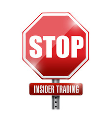 stop insider trading road sign illustration design