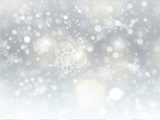 Christmas snowflake background
