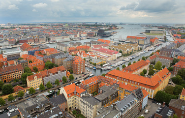 View of Copenhagen from Vor Frelsers Kirke