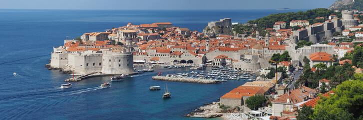 Dubrovnik, Croatia, panorama of the medieval city