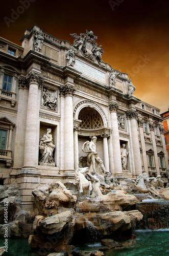 Rome,Italy,Trevi fountain,fontana di Trevi