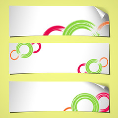 banners curled summer white