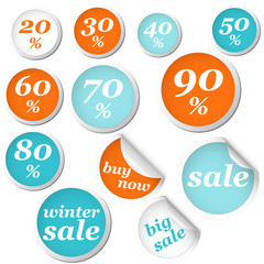winter circle labels discount