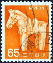 Ancient clay horse (Japan 1966)