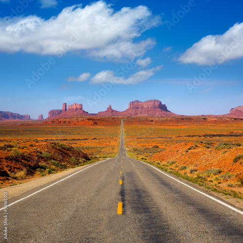 View from US 163 Scenic road to Monument Valley Utah - 56165301