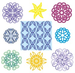round napkins and seamless ornament