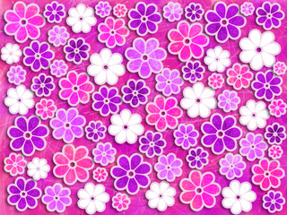 Pink and Purple Flower Art Pattern