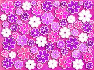 Pink and Purple Flower Art Pattern