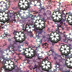 Grunge Graphic Flower Pattern