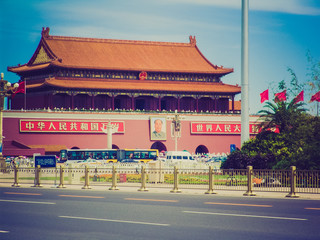 Tiananmen in Peking retro look
