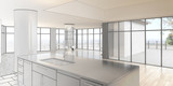 Fototapety Empty Penthouse Loft (construction)