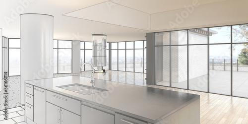 Empty Penthouse Loft (construction)
