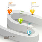 Fototapety vector abstract 3d road infographics