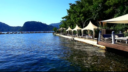 restaurant by the ocean in marmaris turkey