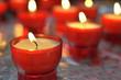 Shallow DOF closeup image of firing candle